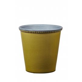 JAZZY - cache pot - aardewerk - limoen - L - DIA 21x21 cm