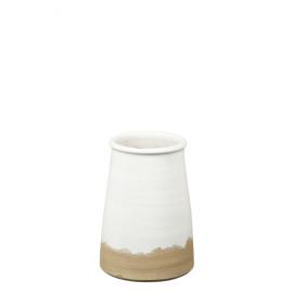 PACO  - vaas - aardewerk - wit - L - DIA 19,5 x H 27,5 cm