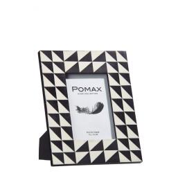 ALVAR - fotokader - hars - zwart/wit - 10x2x15,25 cm