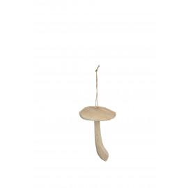 WOODEN - paddenstoel hanger - hout - 13x8x8 cm