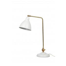 CHARLY - bureau lamp - metaal - wit/goud - E14 - 32x15,5x58 cm