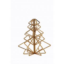 X'MATIC - candleholder fir - metal - gold - S -23x23x25 cm