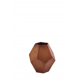 CUBIC - vase - metal - antic brass - Ø21x21,5 cm