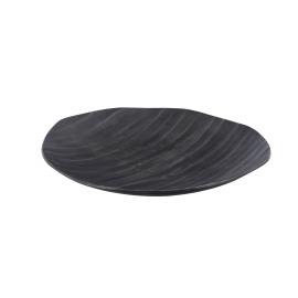 BE CHIC - dienblad - aluminium gebeiteld - grafiet - M - D45x H2 cm
