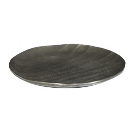 BE CHIC - Broodbord - gebeiteld aluminium - grafiet - S - Ø18 cm