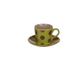 VARADIA - giftbox 4 p/t mixte - ceramic - olive/mastic