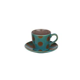 VARADIA - giftbox 4 p/t mixte - ceramic - turquoise/volcan