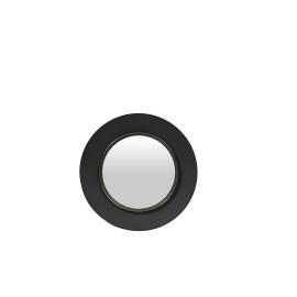 LOLA - ronde spiegel - metaal - zwart - L - Ø 60x5 cm