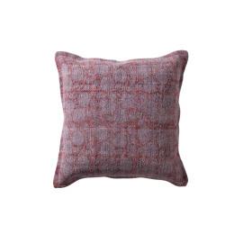 NOMADIC - kussen kelim - 100% katoen/canvas stone washed - purper - 45x45 cm