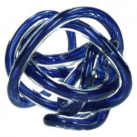 GRAPH - decoratieve bal - glas - blauw - Ø12cm