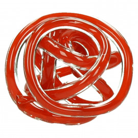 GRAPH - deco ball - glass - red - Ø12cm