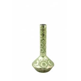 ZAZOU - soliflore etched - glass - lime  antic