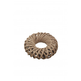 JUNE - wreath - jute - natural - S-  Ø26 cm