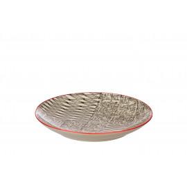 NEW ART - dessert bord - steengoed - DIA 20 cm