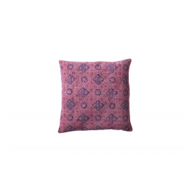 PENJAB - kelim kussen met print - 100% katoen - fuchsia - 40x40 cm
