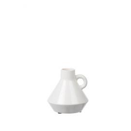 FJORD - vaas - terracotta - wit - M - 16,5x16,5x16,5 cm cm