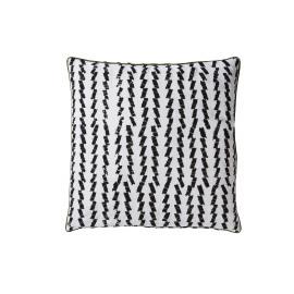 EDELE - batik kussen met zig zag patroon - katoen - wit & zwart - 45x45 cm