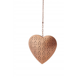 SWEET - hanging heart - metal - copper - S - Ø15x3 cm