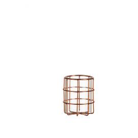 COSMOPOLITAN - T/light - metaal - koper - Ø8x10 cm