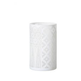 METAMORPHOSIS - Hurricane - glass - white matt - L -  Ø12x20 cm