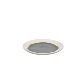 LOTUS - dessert plate - porcelain - gray - DIA 20 cm