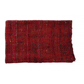 TWEED - Throw - silk/cotton - red/multi -125x150 cm