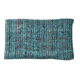 TWEED - Throw - silk/cotton - turquoise/multi -125x150 cm
