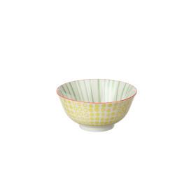 BIG BANG/BOUBOU - bowl - porselein - groen/oranje - L - Ø15x7cm