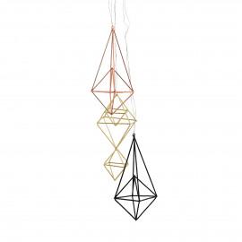 TOTEM - set 3 Xmas hangers - metaal - zwart/koper/goud