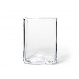 ROSAM - windlicht/vaas vierkant - glas - M - 18x18x24 cm
