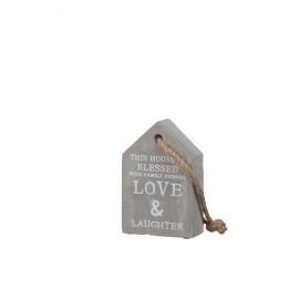 BETON HOUSE - deco huisje - cement - 10x4x15cm
