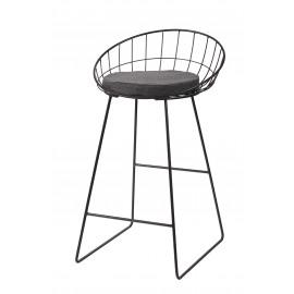 TREILLIS - barchair - metal / steel - L 50 x W 50 x H 85cm - Gun