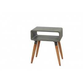 ATRIUM - console - beton - hout - 52x35x60cm
