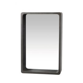 ATRIUM - muurschap met spiegel - MDF - beton - L - 41x15x63cm