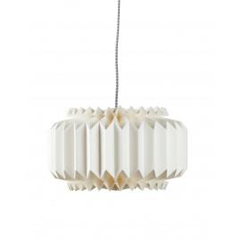 BELLE HISTOIRE - Origami lamp - paper/metal - E14/40W - white - Ø36x14cm