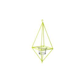 SUTI - T-light - metaal - fluo limoen - 10,5x10,5x29cm