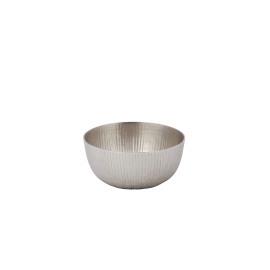 LOTUS - kom - aluminium/ mat zilver - Ø15x6cm