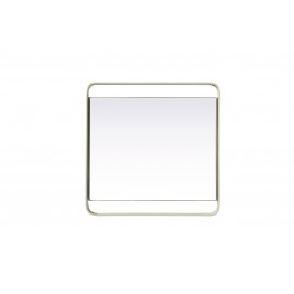 MONO - Tray - metal/mirror - white - S - 30x30x3cm
