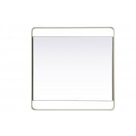 MONO - Dienblad - metaal/spiegel - wit - L - 40x40x3cm
