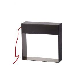 REFLECTEUR - tafellamp - galvaniseerd ijzer - anthraciet zink/ koper - 30x10x31cm