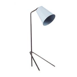 PLAYTIME - tafellamp - ijzer/ messing - lichtblauw - H53x20cm Ø13cm
