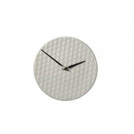 RIZÉ - clock - ceramic - white - 29x29x3,5cm