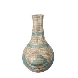 EGÉE - deco fles - zeegras - turquoise - Ø33x60cm