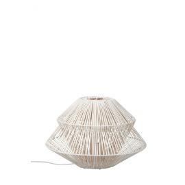COROLLE - lamp - rattan/ iron -  white - 45,5x45,5x36cm