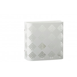 URBAN ART - muurlamp - E27 - metaal - wit - 23x10x22,5cm