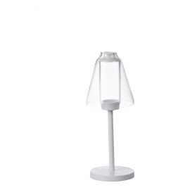 CABANE - T-light - metal - white - S - 11x11x27,5cm