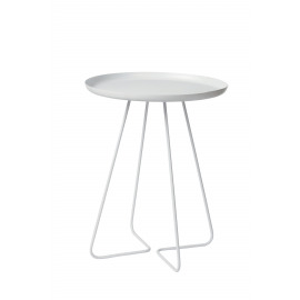 FORMS - side table - metal - white - 45x45x57cm