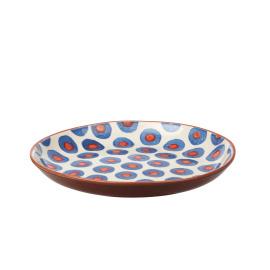 ZAZA - rond bord - aardewerk - hand geschilderd - L - Ø 37cm