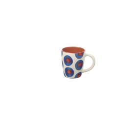 ZAZA - mug - aardewerk - hand geschilderd - DIA 10,5 x H 11,5 cm