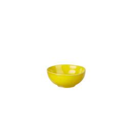 BIBI - bol - aardewerk - hand geschilderd - geel - DIA 11 x H 4,5 cm